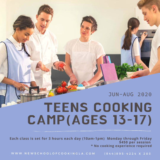image for a Teens Cooking Camp (Ages 13-17)