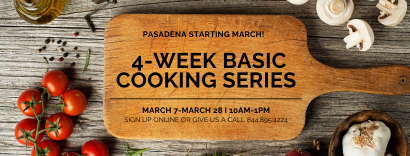 image for a 4-Week Basic Cooking Series