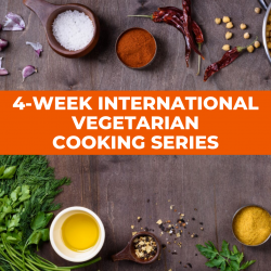 The image for INTERNATIONAL VEGETARIAN COOKING SERIES CLASS 1