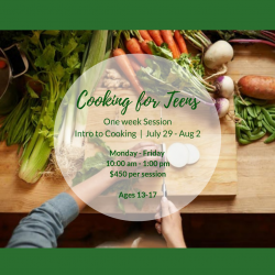 The image for INTRO TO COOKING FOR TEENS SERIES CLASS 1